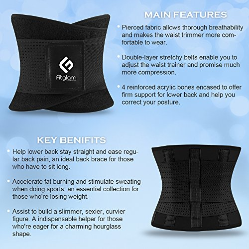 4bf96211617 Features. Fitglam Waist Trainer Corset ...